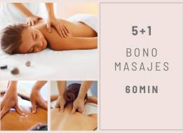 BONO MASAJES 5+1 60 min.