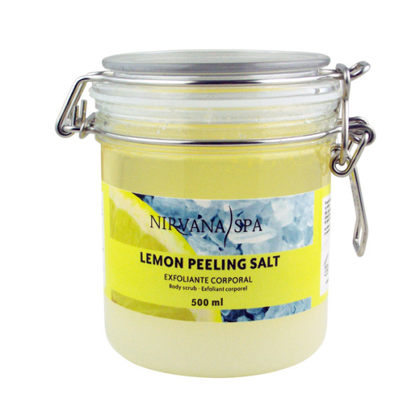 Lemon Peeling Salt 500ml Nirvana Spa®