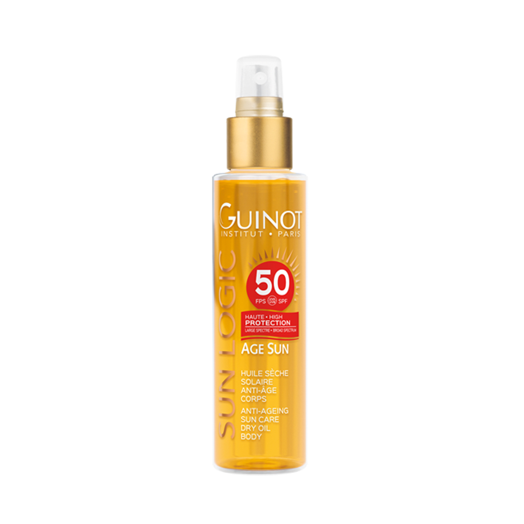 Huile Seche Solaire Anti Age Corps SPF 50 150ml  Guinot®