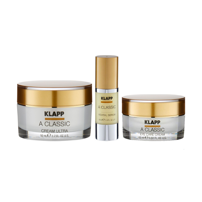 Kit A Classic Cream 50ml + A Classic Serum 30ml + A Classic Eye Care Cream 15ml Klapp®