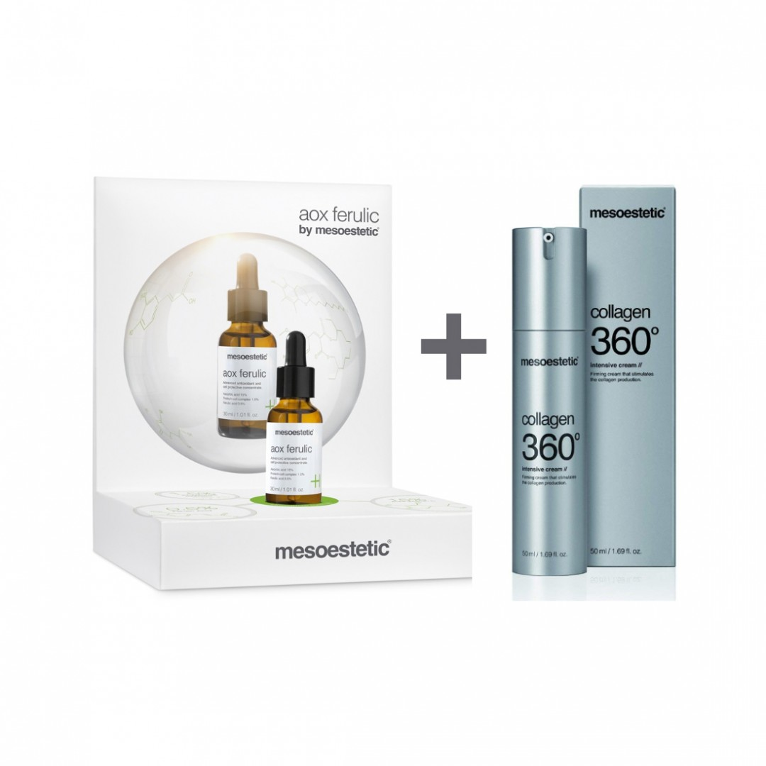 Pack Aox Ferulic 30ml + Collagen 360 Intensive Cream 50ml Mesoestetic