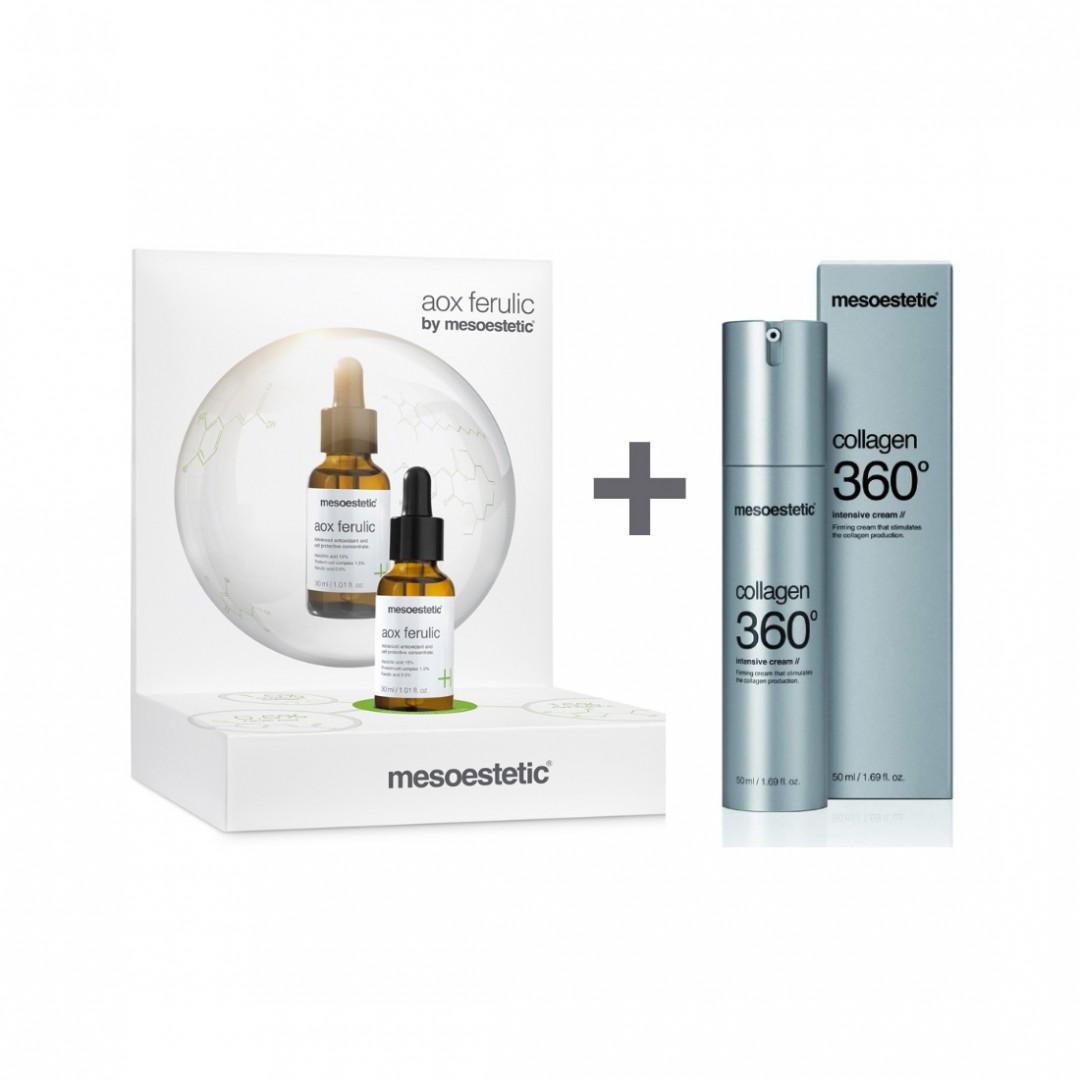 Pack Aox Ferulic 30ml + Collagen 360 Intensive Cream 50ml Mesoestetic®