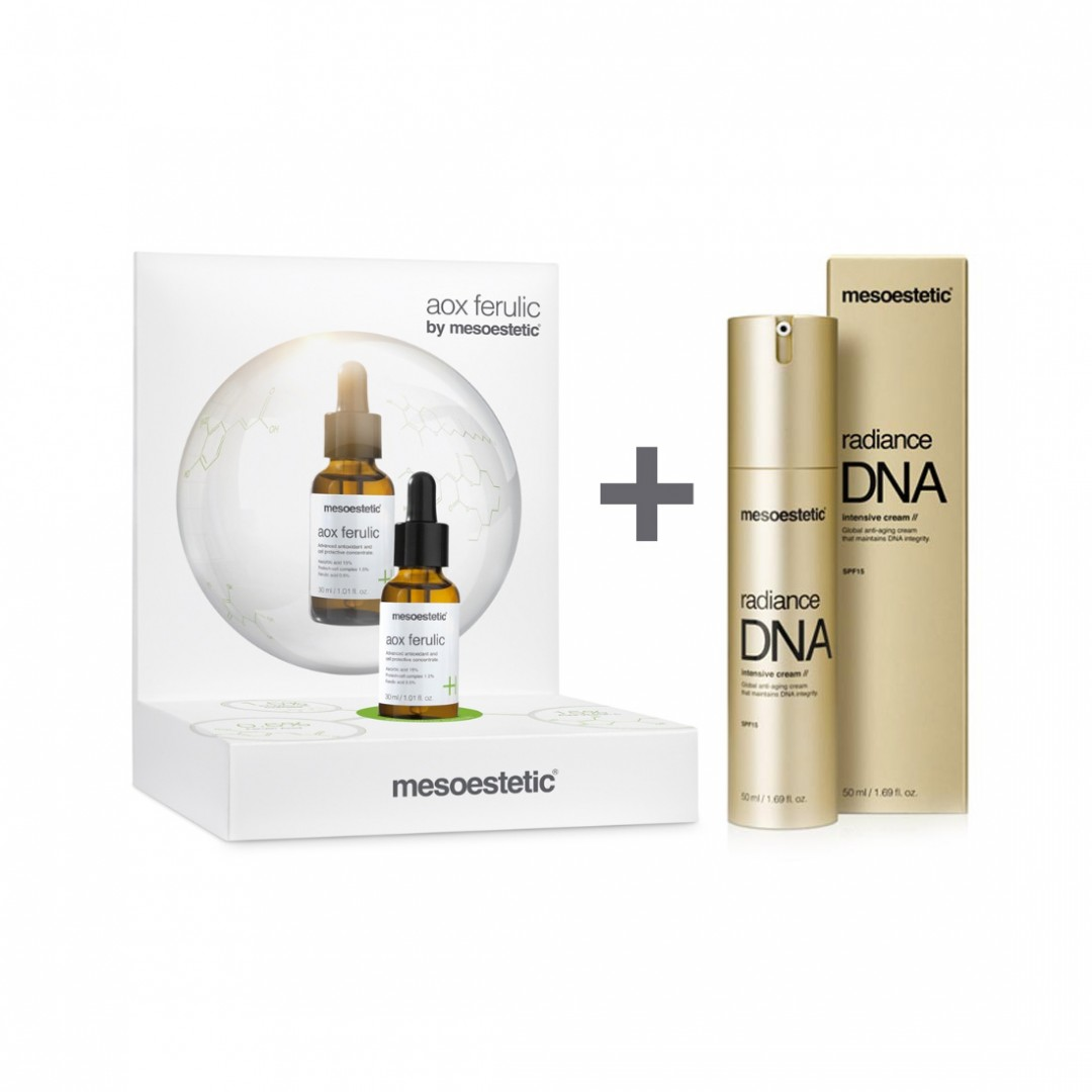 Pack Aox Ferulic 30ml + Radiance DNA Intensive Cream 50ml Mesoestetic®