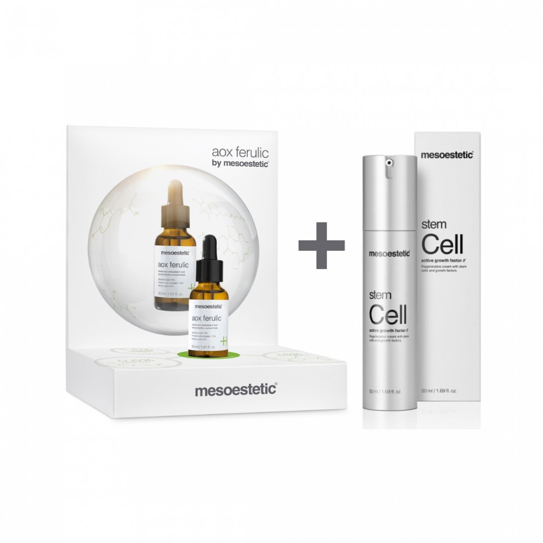 Pack Aox Ferulic + Stem Cell Active Growth Factor Mesoestetic Pack Aox Ferulic 30ml + Stem Cell Acti