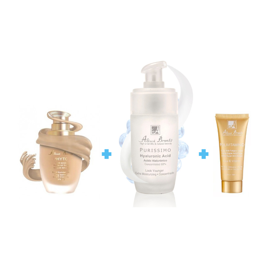 Pack Belleza Extrema: Maquillaje Phyto 30ml + Purissimo Hyaluronic Acid 50ml + Regalo Alissi Bronte®
