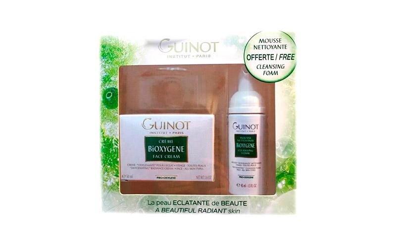 Pack Guinot Bioxygene Crema Facial 50ml + Mousse Bioxygene Espuma Limpiadora 45ml