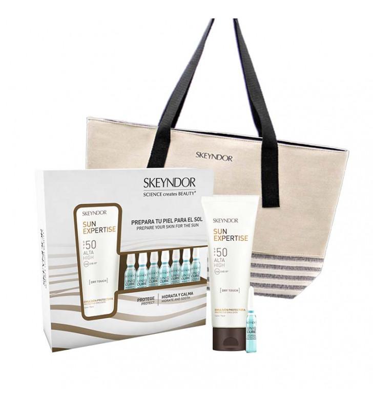 SUN EXPERTISE - Pack Solar Sun Expertise: Emulsión Dry Touch SPF 50 + Ampollas Hydrating + Regalo Sk