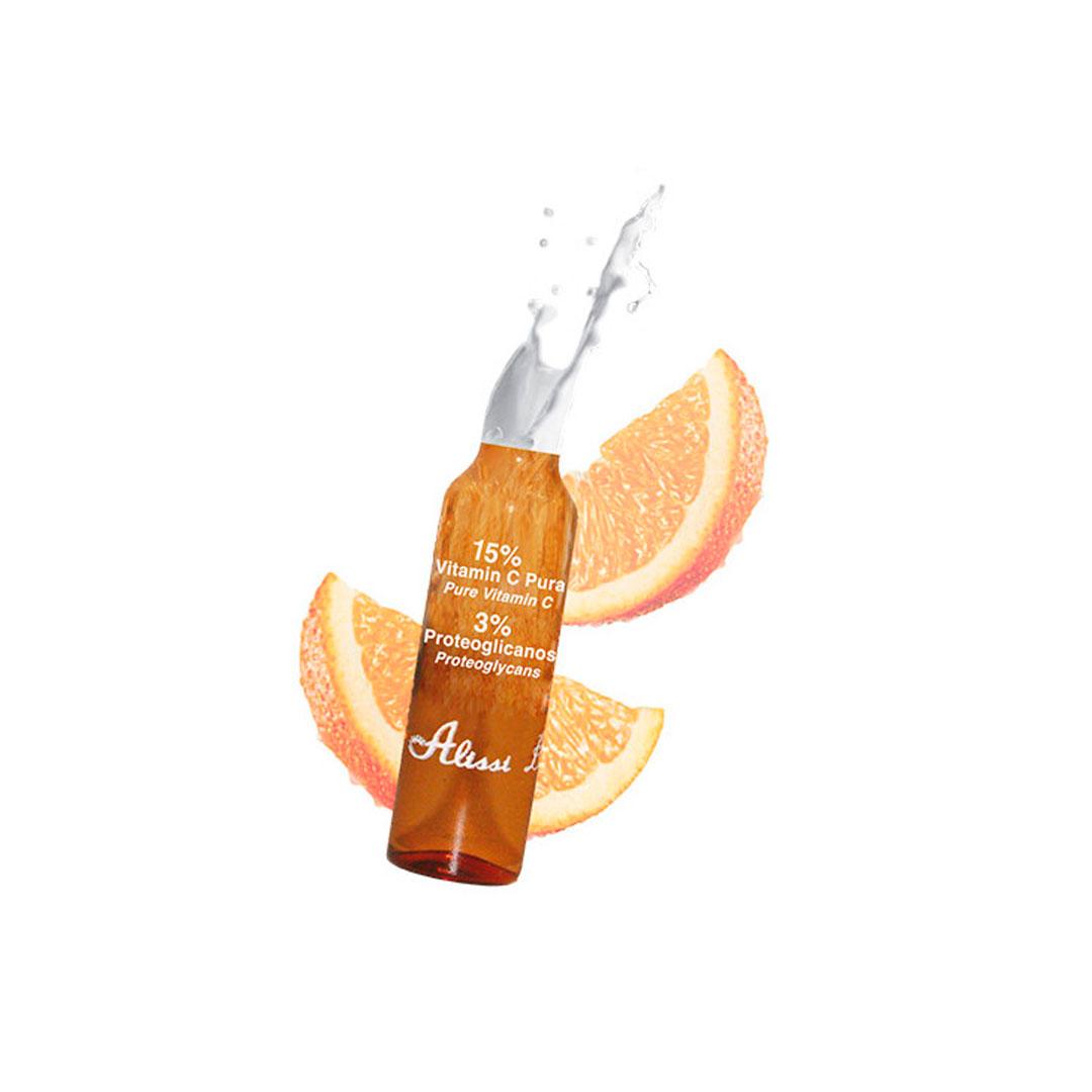 Pure Vitamin C+ Proteoglycans 15% Vitamina C Pure + 3% Proteoglicanos 10 amp. x 2ml Alissi Brontë®