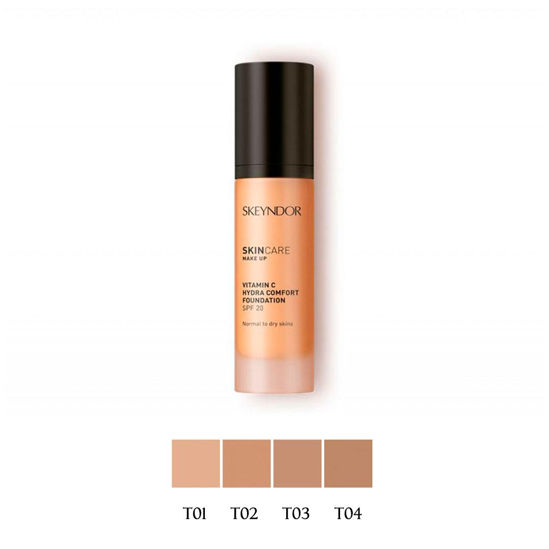 Skin Care Maquillaje Fluido - Vitamin C Hydra Comfort Foundation Tono 02 30ml Skeyndor®